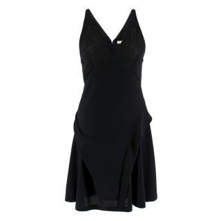 Balenciaga Black Mesh Skater Dress
