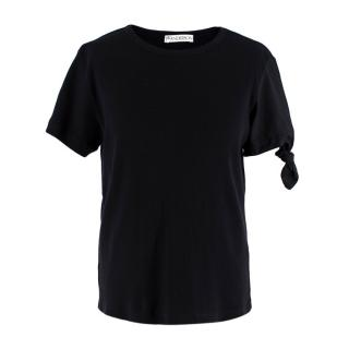 JW Anderson Black Classic Tie Sleeve T-Shirt