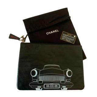 Chanel Cub Cruise black leather clutch