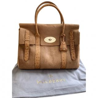 Mulberry Bayswater deer brown ostrich/calfhair bag