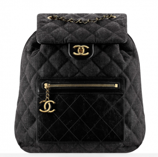 Chanel Denim & Leather Quilted Backpack