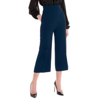 Max Mara Navy Studio Cropped Pants