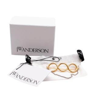 JW Anderson Twisted Brooch With Chain