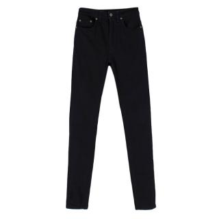 Saint Laurent Black High Rise Skinny Jeans