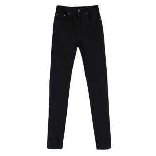 Saint Laurent Black High Rise Skinny Jeans