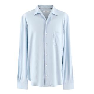 Loro Piana Men's Duck Egg Blue Shirt