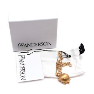 JW Anderson Gold Tone Turtle Pendant Necklace
