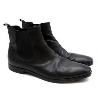 Prada Black Pull-On Chelsea Boots