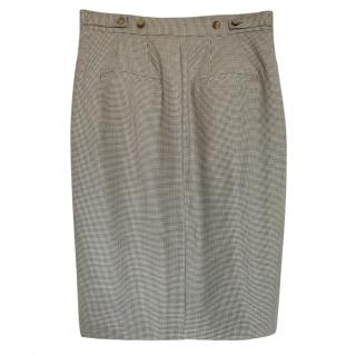 Ralph Lauren Polo woolHoundstooth grey Pencil Skirt