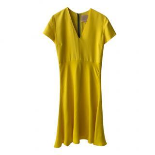 Roksanda Yellow & Nude Short Sleeve Dress