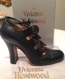 Vivienne Westwood black leather Ghillie shoes