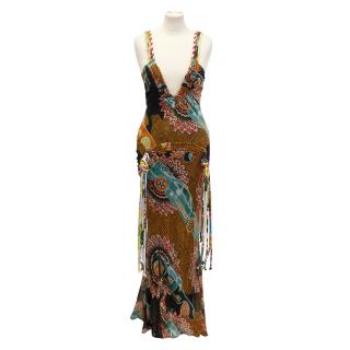 John Galliano catwalk maxi dress