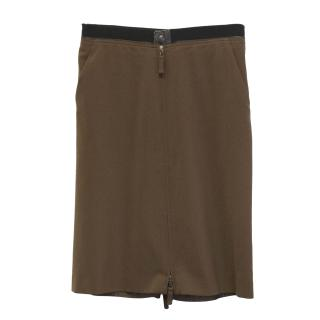 Jean Paul Gaultier brown zip skirt