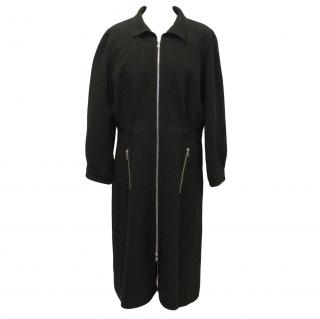 Courreges black wool coat