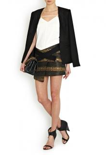 New Smythe tweed wrap skirt