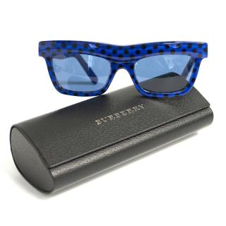 New Burberry wave dot blue sunglasses