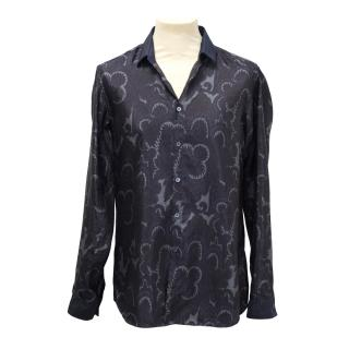 Burberry mens paisley print shirt