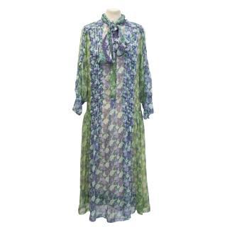 New Roberto Cavalli chiffon floral dress
