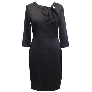 Collette Dinnigan black silk blend dress