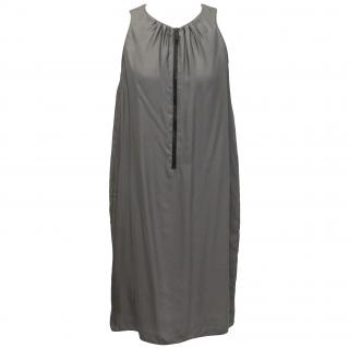 Burberry silk grey shift dress