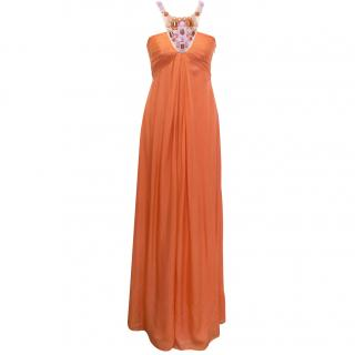 New Catherine Malandrino orangeade evening dress