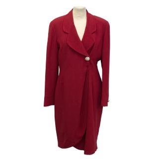 Fendi Lipstick Red Crystal Button Evening Coat - new