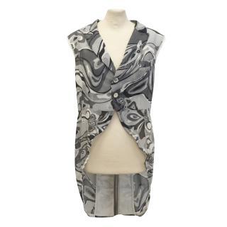 Comme Des Garcons grey silk gilet - new