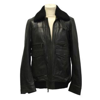 Arkay 'Jiro' leather aviator jacket