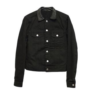 New J Lindeberg Curtiz black denim jacket