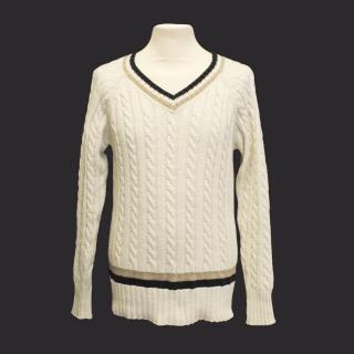 J. Lindeberg 'vinnie raw' cotton cricket jumper