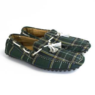 J. Lindeberg car shoe plaid loafers