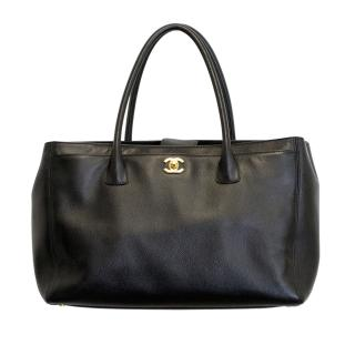 Chanel Black Caviar Leather Cerf Executive Large Tote Bag