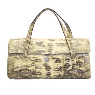 Miu Miu faux python skin handbag