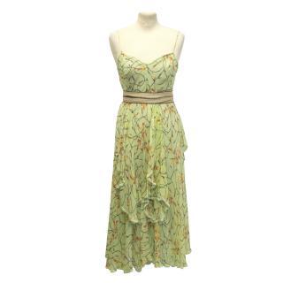 Missoni lime silk chiffon dress