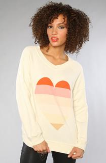 Wildfox beach heart sweater