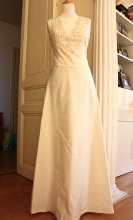 Maxmara long cream dress