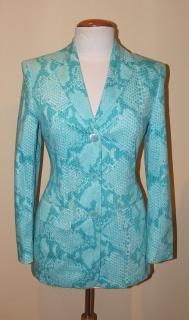 LAUREL turquoise print jacket, NEW German size 34