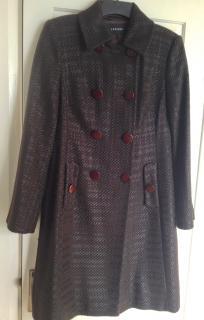 Jaeger Metallic Tweed Coat Size 10