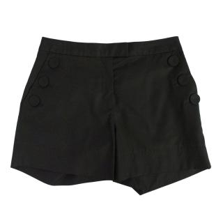 New Designers Remix Collection By Charlotte Eskildsen black cotton 'James shorts'