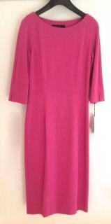 Marc Cain pink 3/4 sleeve dress