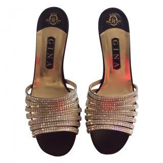 Gina new diamante/satin sandals
