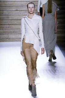 RICK OWENS Asymmetric Draped Leather Jacket