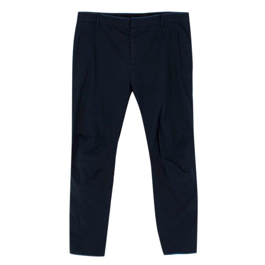 Lanvin Mens Navy Trousers