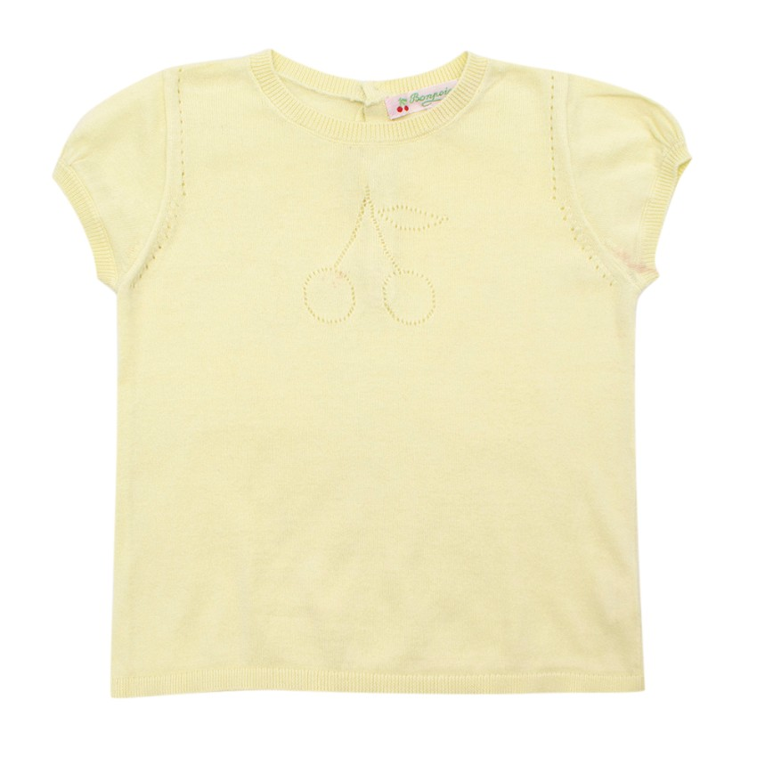 Bonpoint Baby Yellow Knitted top