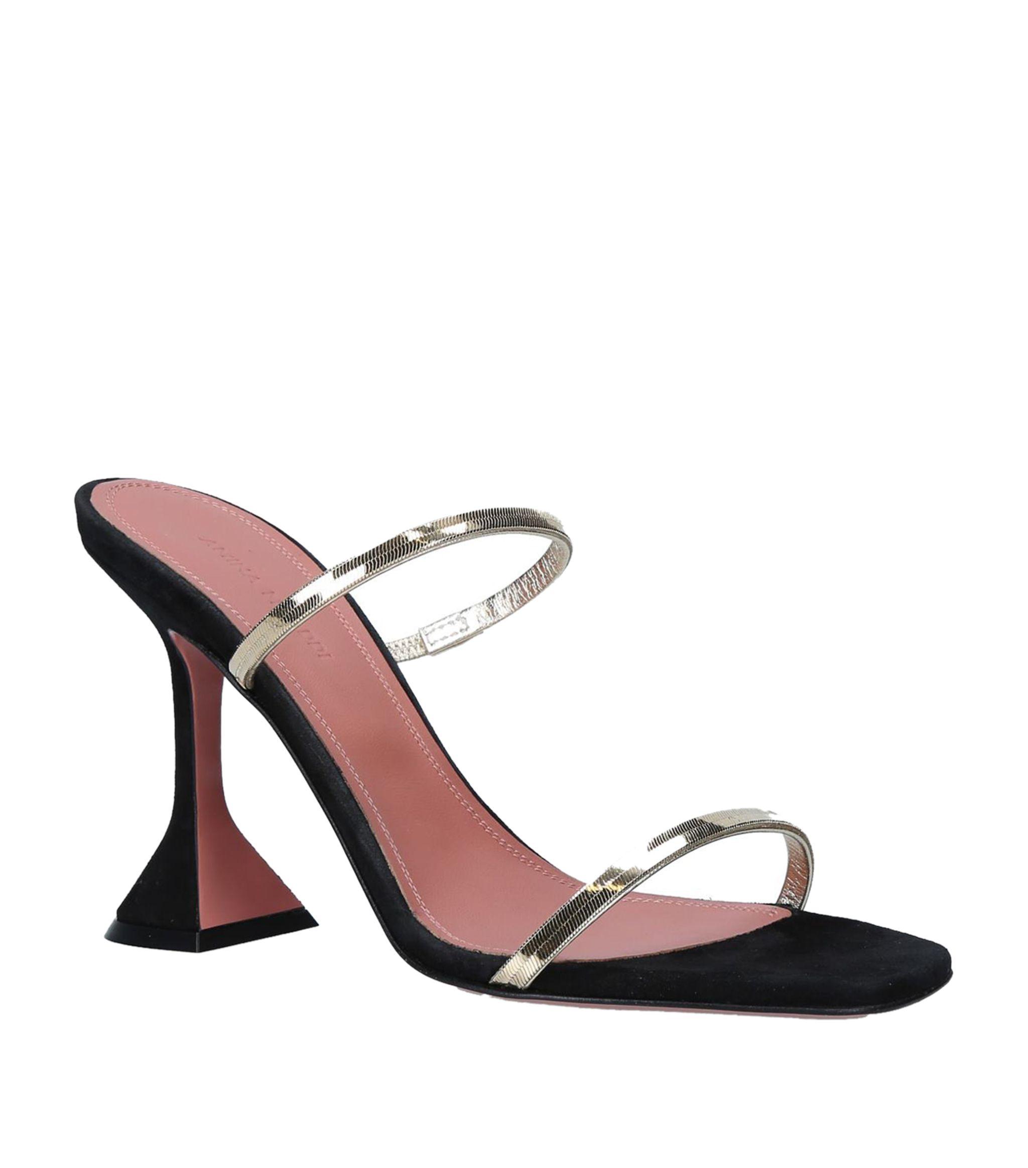 Amina Muaddi Henson chain suede sandals