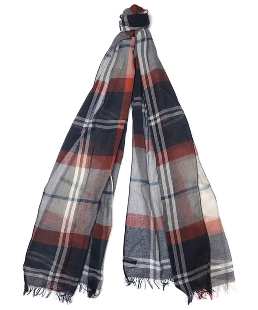 Barbour Summer Dress Tartan Wrap Scarf