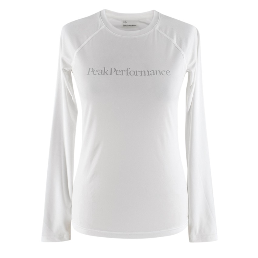 Peak Performance White Long Sleeve Gym Top