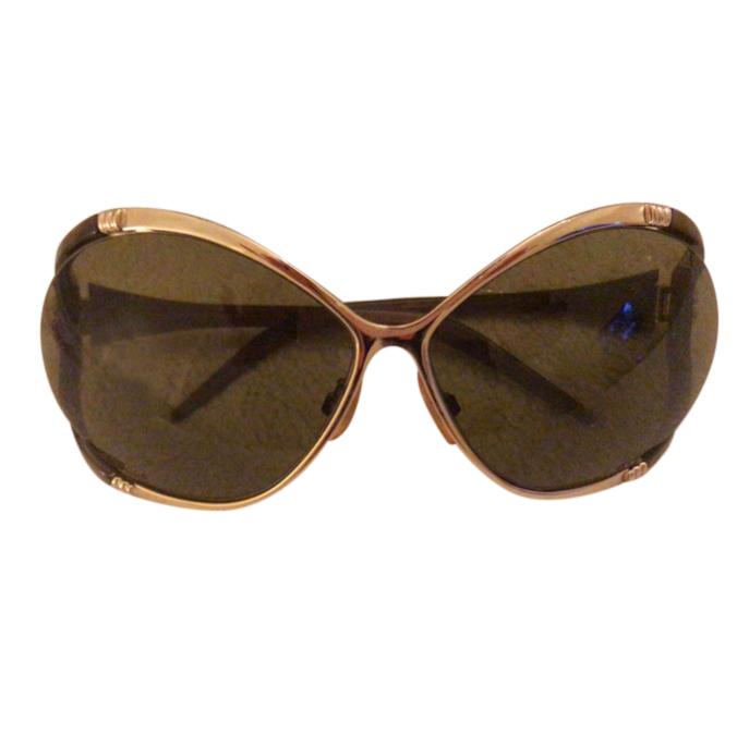 Roberto Cavalli Oversize Sunglasses with Crystal Detail