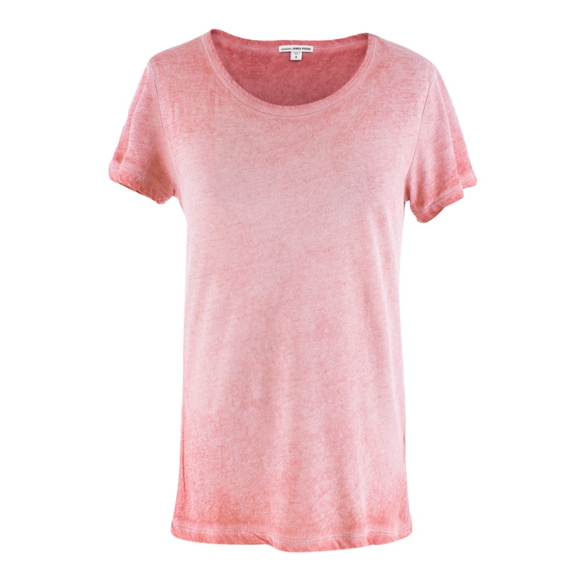 James Perse Washed Cotton Red T-Shirt