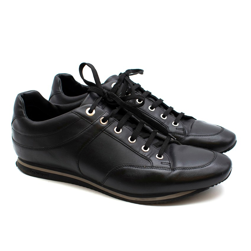 Zegna Sport Men's Black Leather Trainers